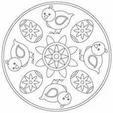 easter mandala with and egg coloring page free