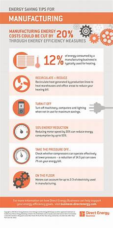 energy saving tips for manufacturers direct energy business