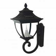 gama sonic black solar led outdoor wall light gama sonic pagoda 24 in h black solar led outdoor wall
