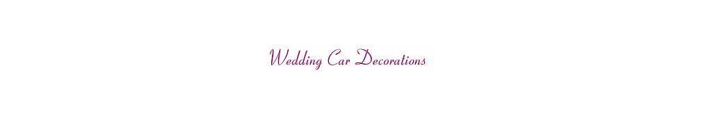 Wedding Car Decorations  In