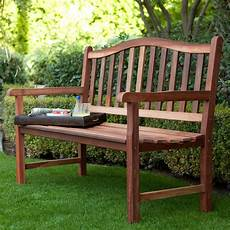belham living richmond curved back 4 ft outdoor wood bench outdoor benches at hayneedle