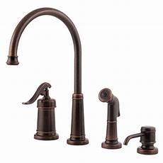 pfister ashfield single handle side sprayer kitchen faucet