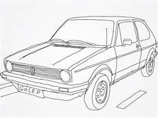 Malvorlagen Autos Vw Vw Golf Mk 1 Drawing Cars Ausmalbilder Vw Autos Ausmalen
