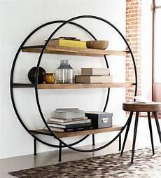Regal Industrial Style - rundes regal im industrial stil aus mattschwarzem metall