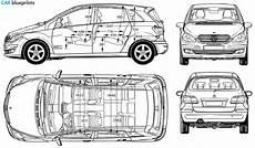 mercedes b klasse abmessungen 2006 mercedes b class w245 minivan blueprint