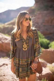 look hippie femme comment portet la robe hippie chic robes mode robe