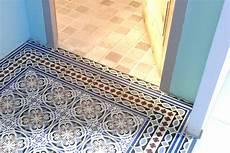sol pvc imitation carreaux de ciment design maison dalle