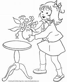 birthday coloring pages free printable birthday flowers