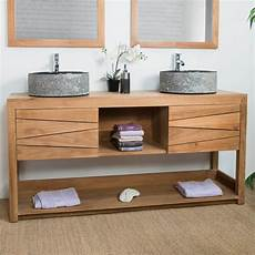 meuble sous vasque de salle de bain en teck cosy 160cm 590