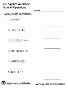 pre algebra worksheets 8536 order operations pre algebra worksheet algebra worksheets pre algebra worksheets pre algebra