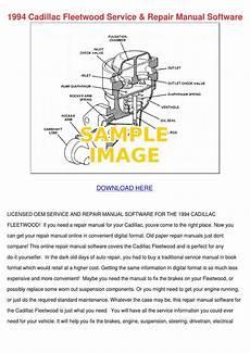 service and repair manuals 1994 cadillac fleetwood auto manual 1994 cadillac fleetwood service repair manual by lisaleyva
