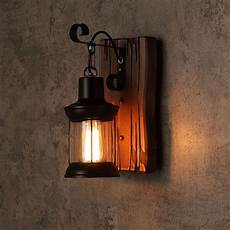 cottage kitchen wall lights retro industrial cottage style metal clear glass lantern 1 light wall light wood backplate