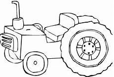 ausmalbilder kleiner roter traktor
