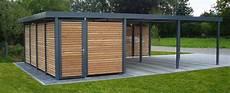Carport Mit Schuppen Preise - myport carport mit integriertem ger 228 teraum wandelemente