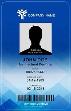 id card template gratis 16 id badge id card templates free template archive