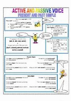 active and passive voice present and past simple tenses