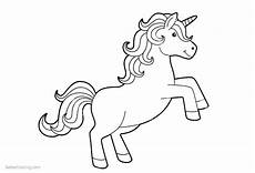 simple coloring pages of unicorn free printable coloring
