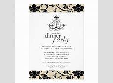 "Fancy Dinner Party Invitations 5"" X 7"" Invitation Card"