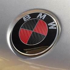 bmw emblem logo overlay decal roundels black carbon