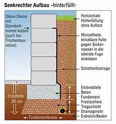 freistehend oder st 252 tzend fundamente f 252 r gartenmauern