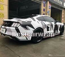 2019 Large Pixed Camo Vinyl Wrap Car Wrapping Acrtic