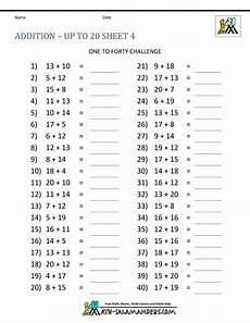 free math addition and subtraction worksheets for 1st grade 9910 math addition facts to 20