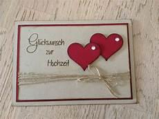Stempellicht Hochzeitskarte Mit Herzen Hochzeitskarten