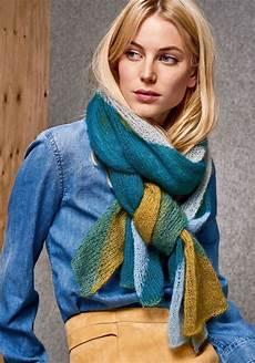 grossa strickanleitungen schal mit farbfl 196 chen silkhair knitted crochet fashion