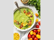 cold avocado and cucumber soup_image
