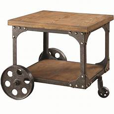 industrial coffee tables with wheels modern industrial warehouse railroad cart coffee tables
