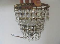 antiques atlas quality set 4 cut glass crystal droplet wall light