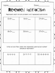 division as repeated subtraction worksheets 4th grade 6694 division with repeated subtraction math facts we learning and animals