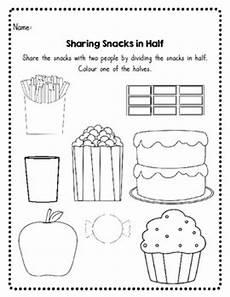 fraction worksheets half 3953 beginning fractions halve by bizjak teachers pay teachers