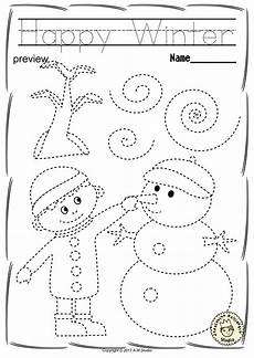 winter pre writing worksheets 20124 winter trace and color pages motor skills pre writing worksheets