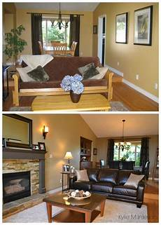 how to lighten a room with low natural light or dark room living room before and after with