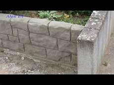 beton im garten mauer aus beton im garten