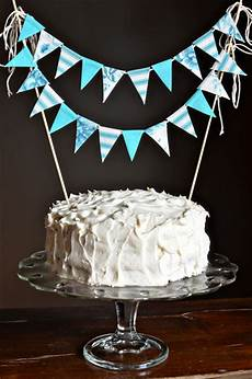 diy cake bunting no sew