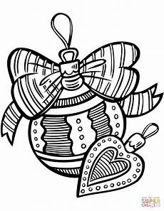 ornaments coloring page free printable