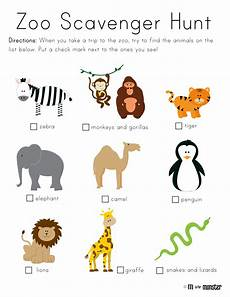 zoo scavenger hunt printable m is for monster