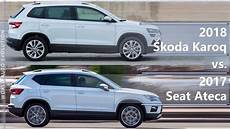 2018 Skoda Karoq Vs 2017 Seat Ateca Technical Comparison