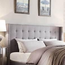 Bedroom Ideas Grey Headboard by Weston Home Curtis I Tufted Grey Linen Headboard