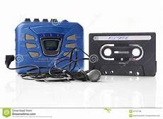 cassetta musica cassetta e walkman di musica fotografia stock immagine