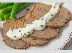 crock pot roast with horseradish sauce_image