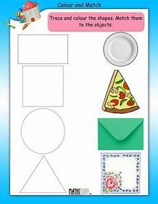shapes worksheet matching 1179 lkg math worksheets page 2