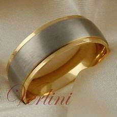 titanium mens ring 14k gold wedding band matte top jewelry size 6 13