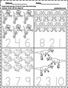 dinosaur worksheets for kindergarten 15385 dinosaur count number write writing numbers dinosaurs preschool preschool activities