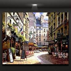 europe coffee shop wall picture canvas print