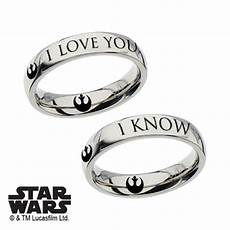 star wars i love you i know couple ring gift special edition han leia ebay