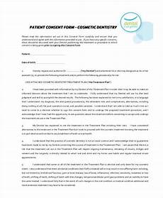 free 7 dental consent form sles in sle exle format