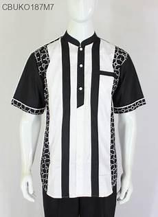 koko batik ayodia hitam putih sarimbit gamis murah batikunik com